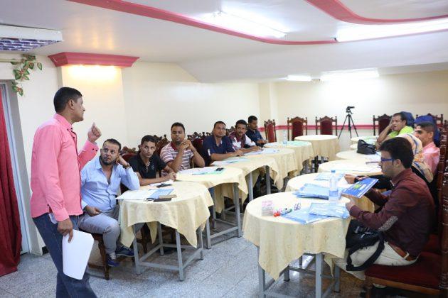 الاعلام الاقتصادي وفريدريش يدربان حول الصحافة الحساسة للنزعات في عدن