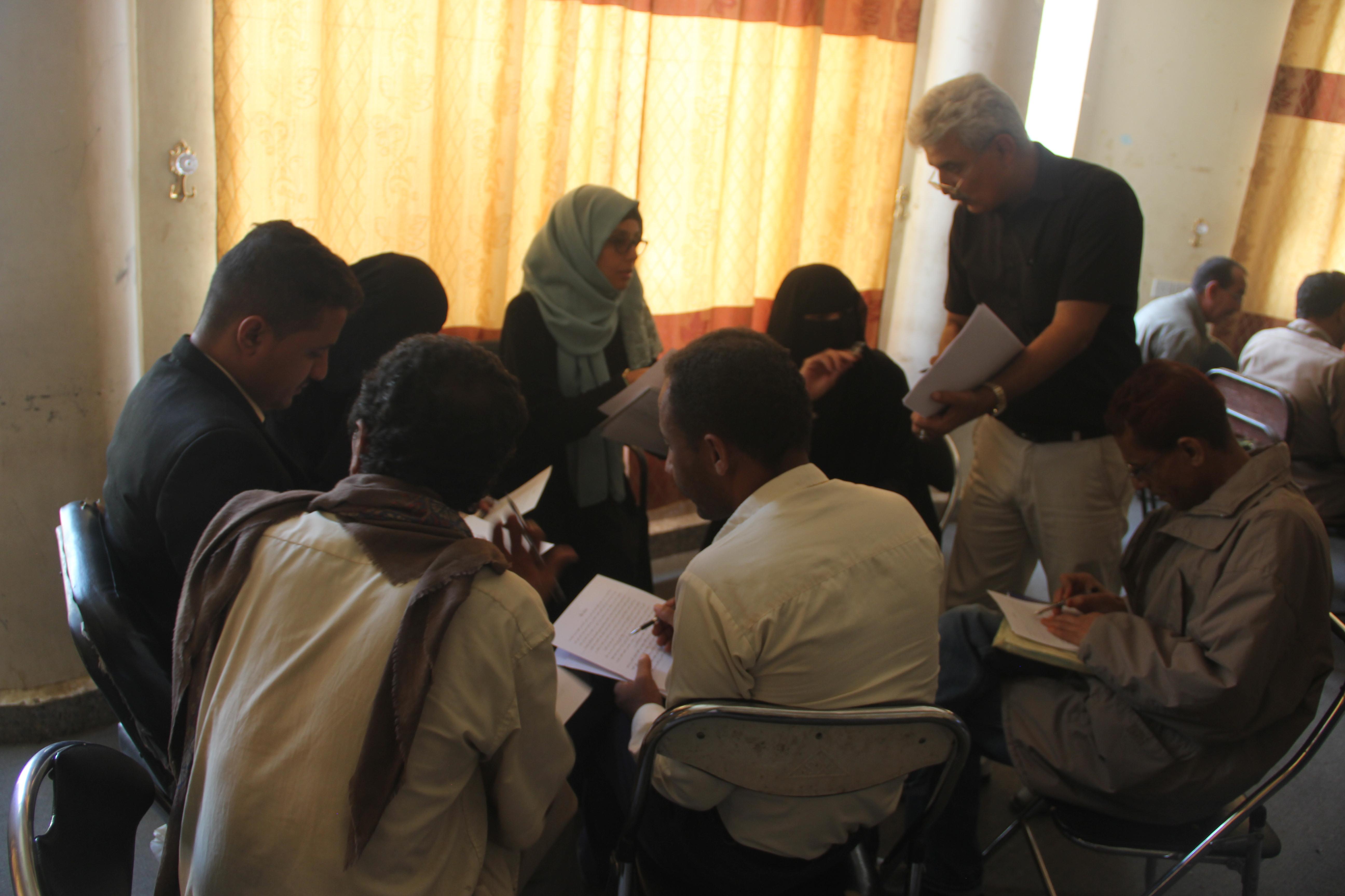 تدريب لجان التنمية المحلية في ريف تعز