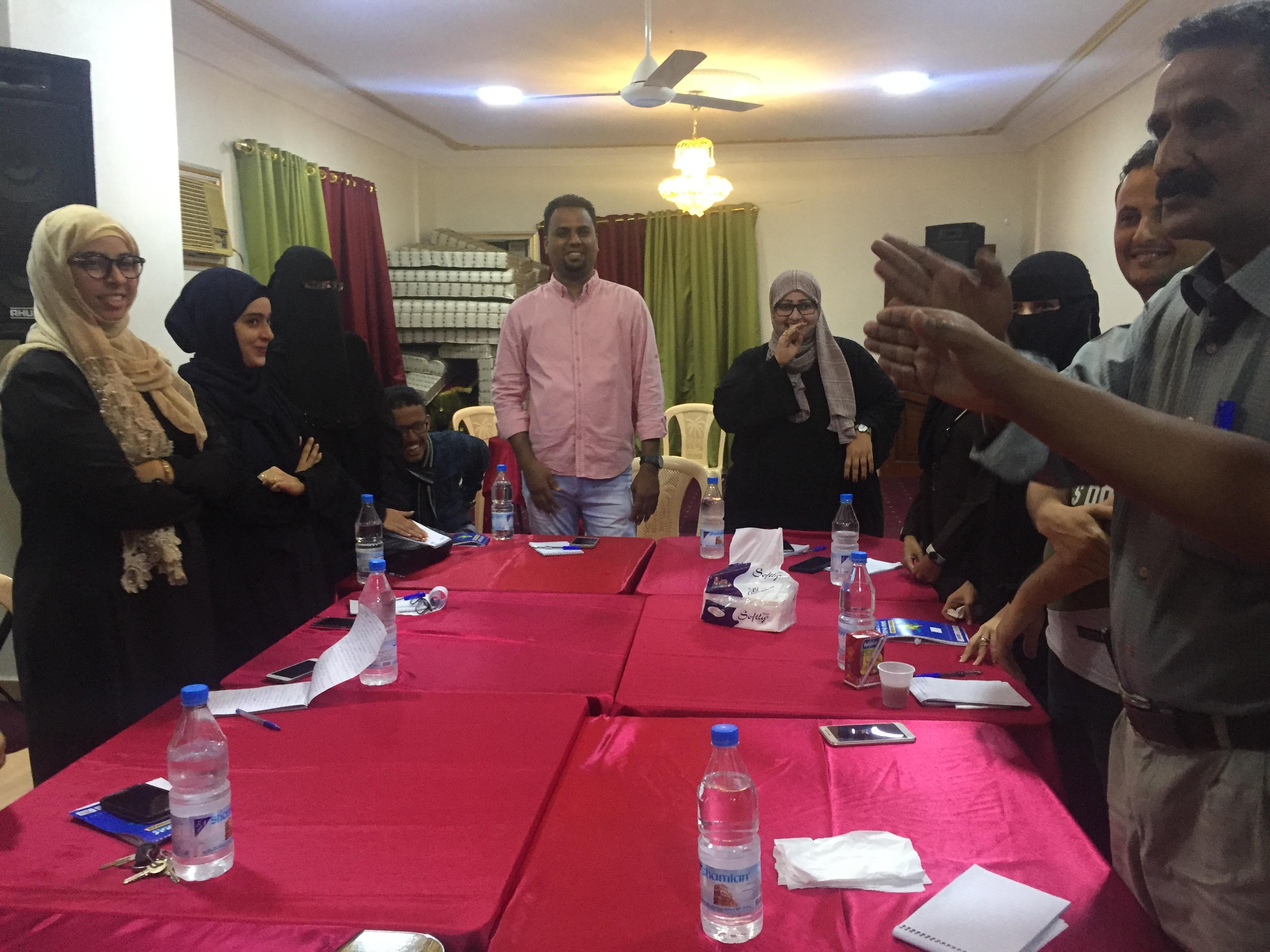 SEMC trained journalists in Aden on Humanitarian Journalism